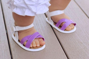 White/Purple Sandals