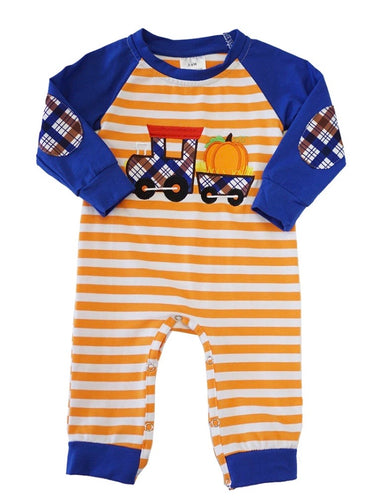 Pumpkin Train Romper