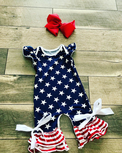 Stars and Stripes Capri Romper