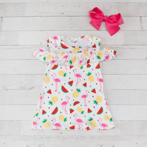Flamingo & Pineapple Dress