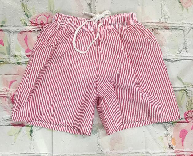 Seersucker Bathing Suit Red Lime Size 12-18mo