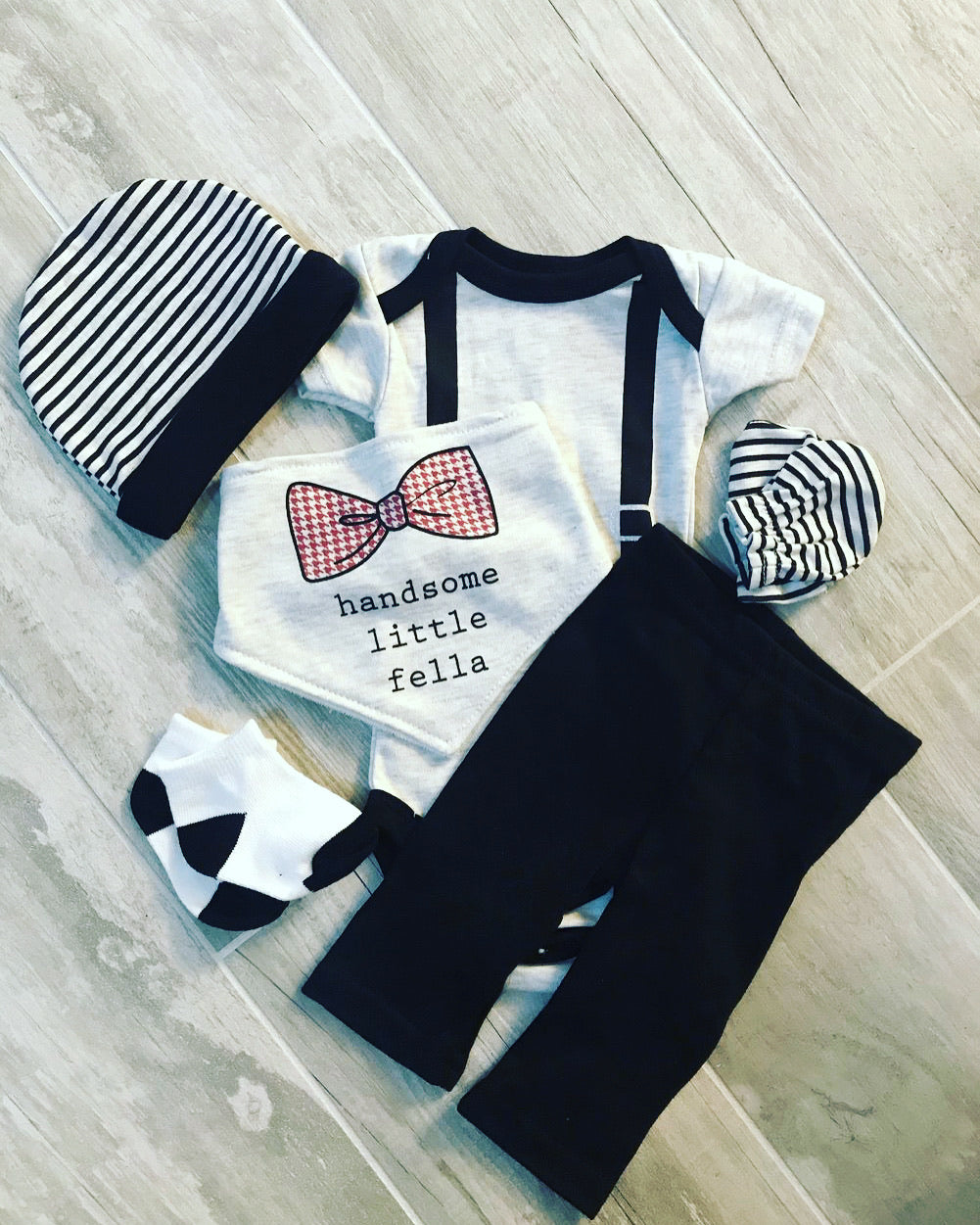 Handsome Little Fella Baby Set
