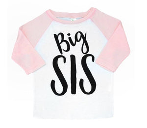 Big Sis Light Pink Raglan