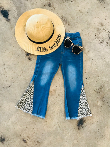 Leopard Bellbottom Jeans