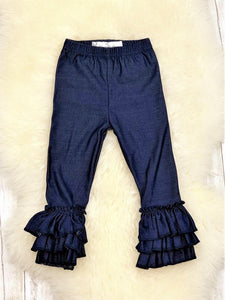 Bell Ruffled Legging Denim