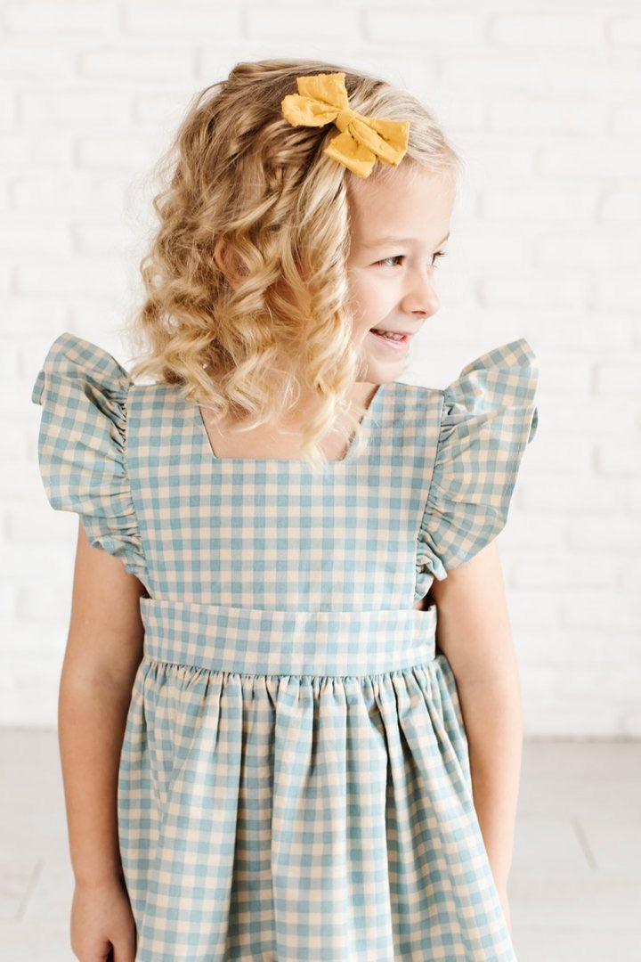 Pinafore in Sky Gingham