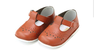 Birdie Leather T-Strap Stitched Mary Jane {multiple colors}