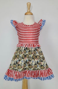 Stripe Baseball Dress