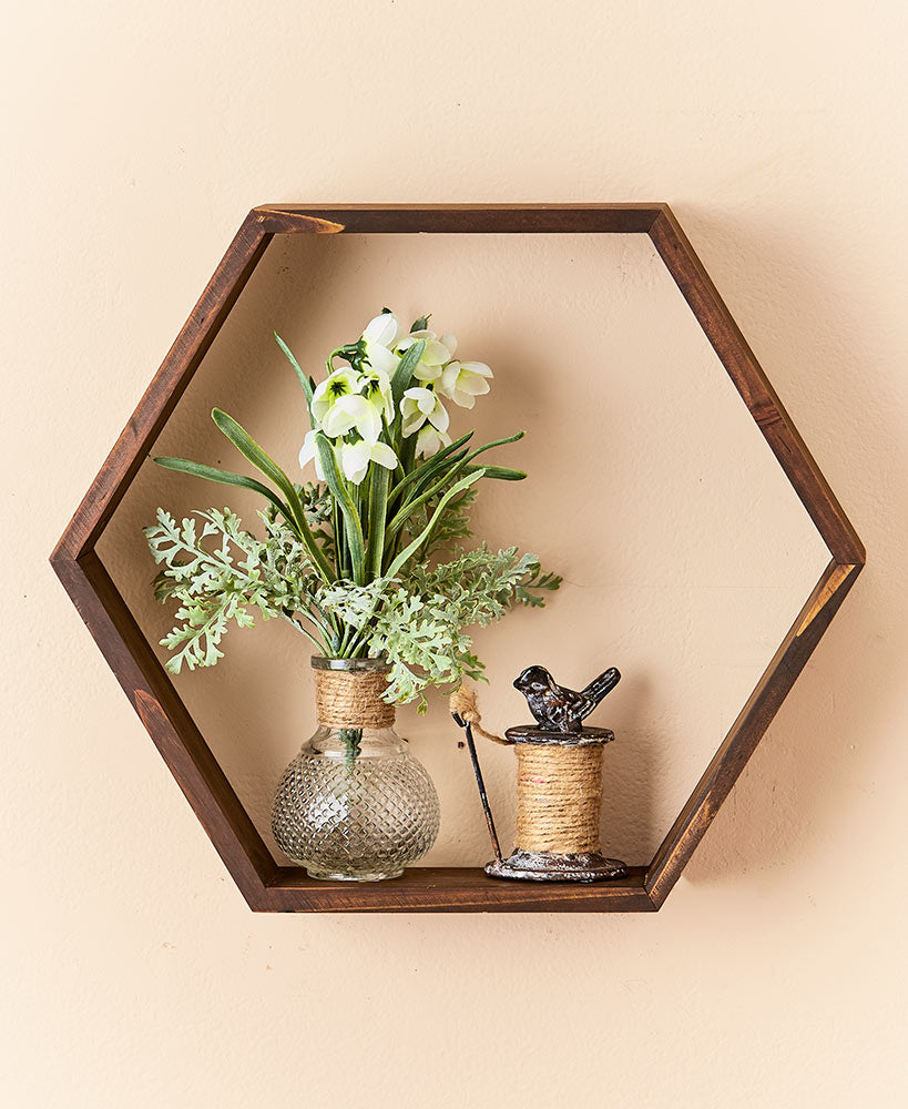 Hexagon Open Shelf