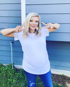 White Detail Maternity Top