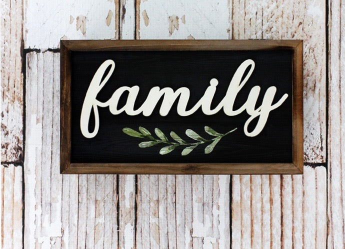 Family Wood Hinged Keepsake
