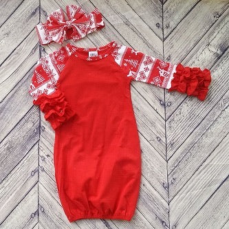 Red Christmas Sleeper With Bow
