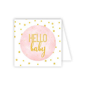 Small Baby Card/ Gift Tag Girl