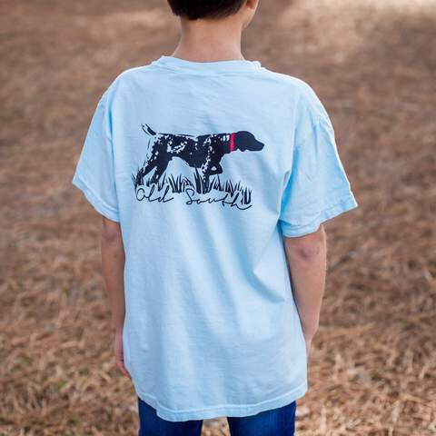 Old South Youth Shirt Dog Blue