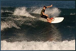 Surfing Shortboard off the top