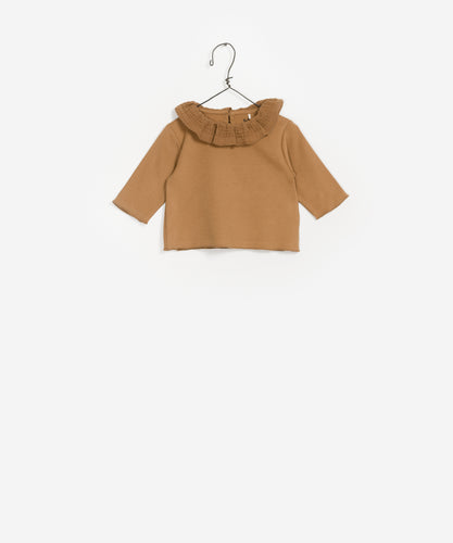 Frill Collared Top - Sand