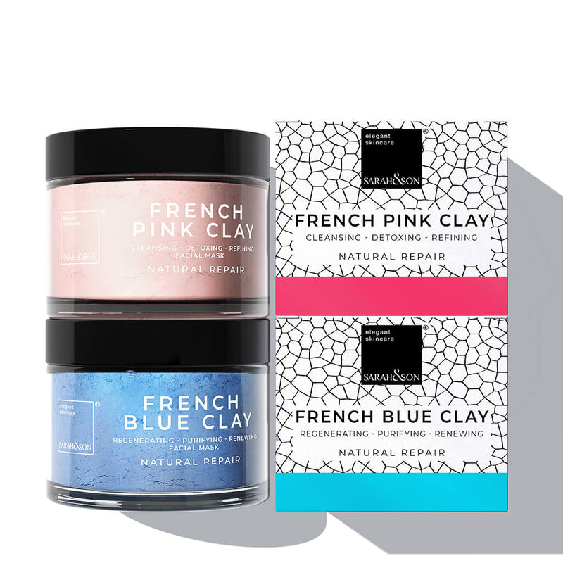 Blue blaue rosa Pink Clay Maske-Spot Treatment Mask Gesichtsmaske Sarah and Son-detox