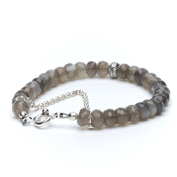 Grey Moonstone Layer Bracelet