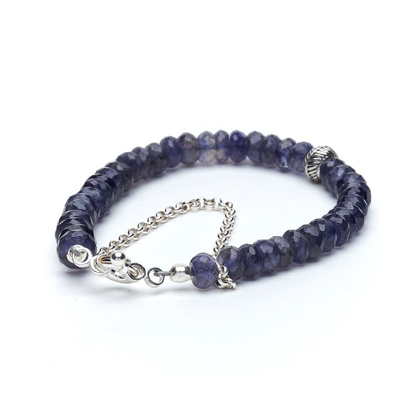 Iolite Layer Bracelet