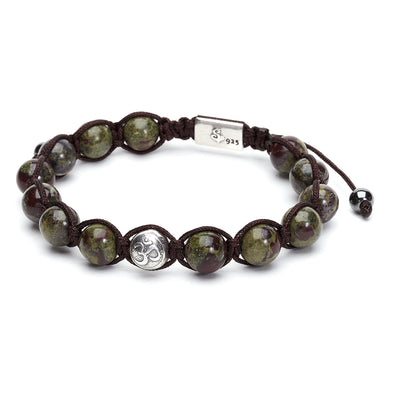 Dragon Blood Jasper Wrap Bracelet