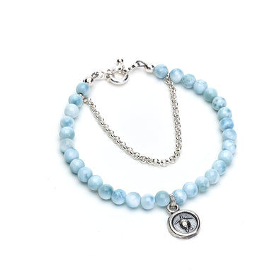 Larimar Sea Turtle Bracelet