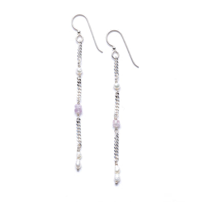 Argent Drop Earrings