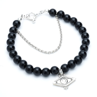 Black Onyx Seeing Eye Bracelet
