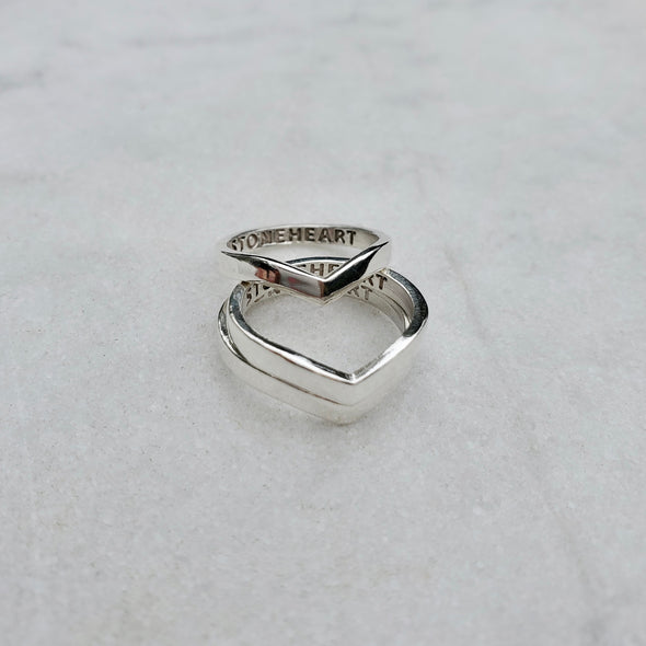 Herringbone Stacker Ring