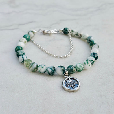 Beaded Tree Agate Bracelet