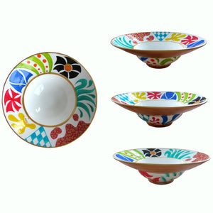 hand painted bone china bowls decorative