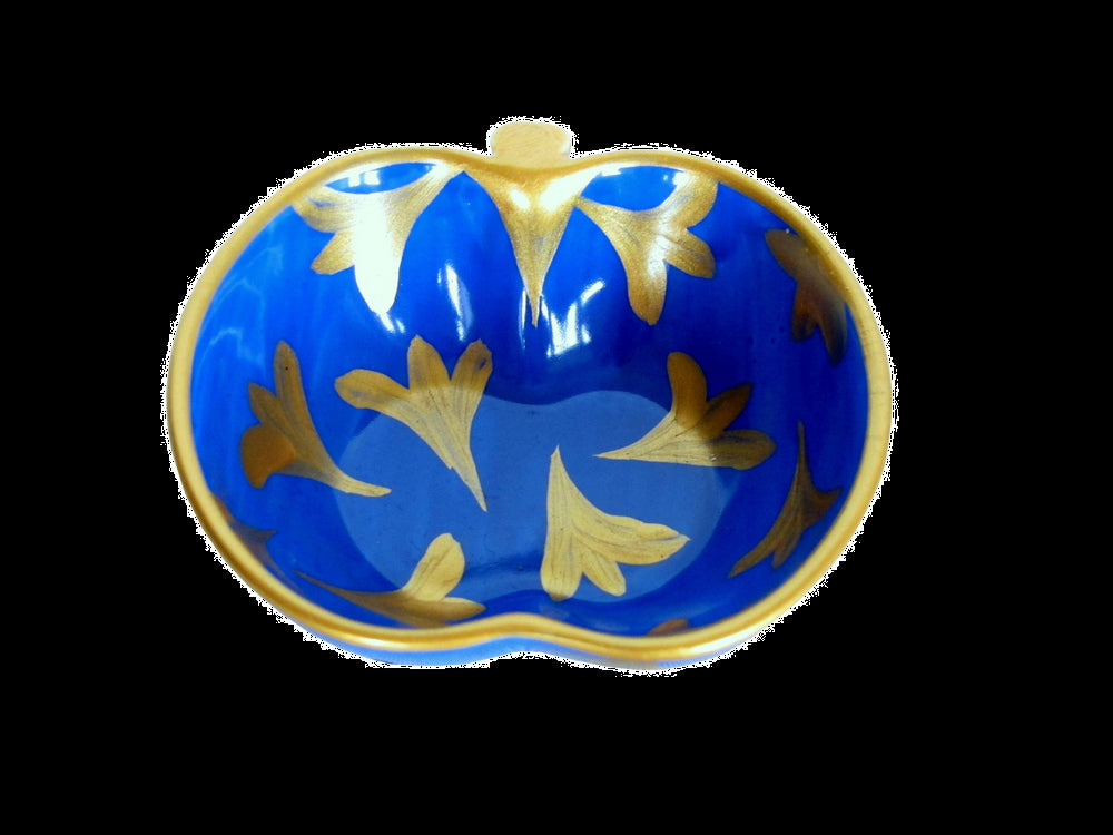 LAPIZ TULIP  Hand Painted Apple Dish