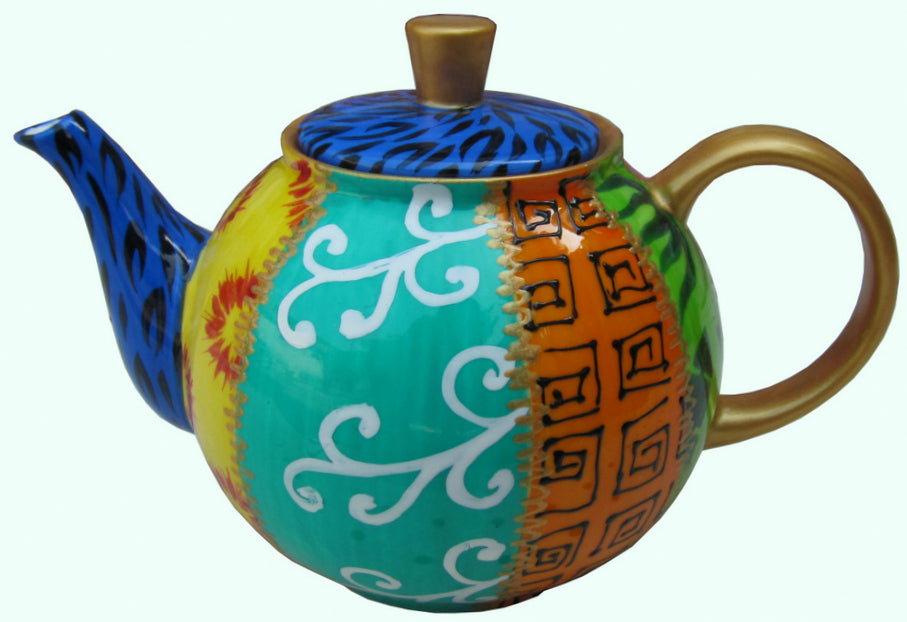 Small Bone China Tsarina Teapot - hand painted