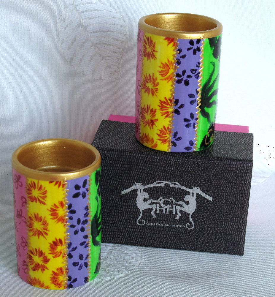 TSARINA 7 Two Hand Painted Tea Light Holders