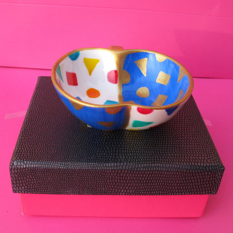 TUTTI FRUTTI - Hand Painted Bone China Apple shaped Dish - Gift Boxed