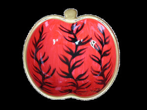 RED SEAWEED - Hand Painted Bone China Dish -  Gift Boxed