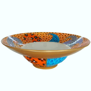 AFRICA SWIRL Hand Painted Bone China Bowl - Limited Edition