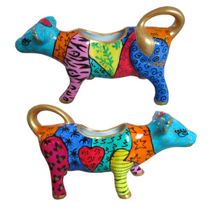 AFRICA Cow Creamer hand painted porcelain gift boxed