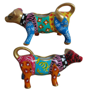 GOLDIE HORN Painted Cow Creamer in fine porcelain gift boxed