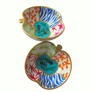 SEA  Hand Painted Apple Dish