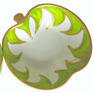 MAPLE  Hand Painted Apple Dish