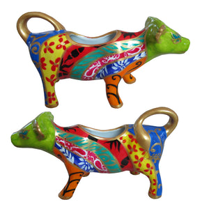 FANTAIL Cow Creamer in hand painted porcelain gift boxed