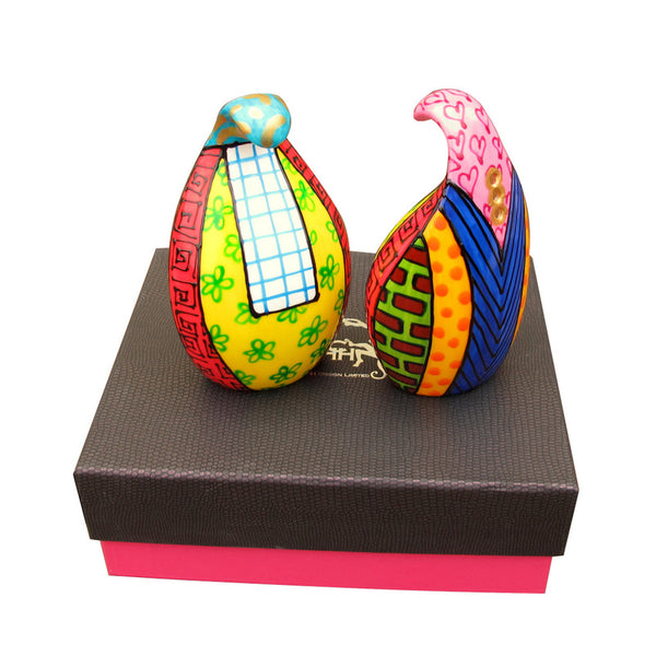 COMMOTION Salt and Pepper in hand painted bone china, gift boxed
