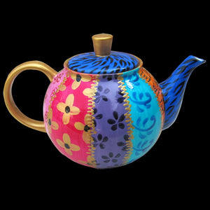 TSARINA TEAPOT - Small, Hand Painted, Bone China, Teapot