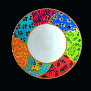 HAPPINESS - Hand Painted Bone China Bowl - Limited Edition