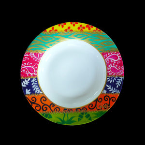 BOWLS Diversity I - Set of Six Hand Painted Bone China shallow Bowls