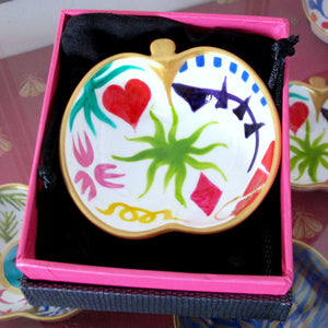 GEO - Hand Painted Bone China Dish