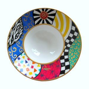 SUN - Hand Painted Bone China Bowl - Limited Edition
