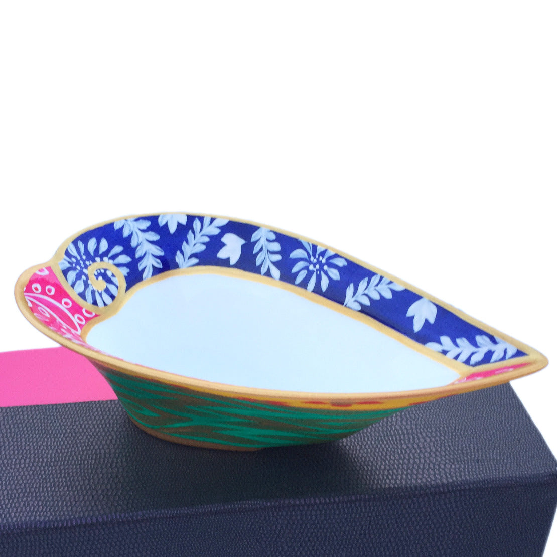 DIVERSITY - painted Heart Shaped Bowl in bone china, Gift boxed