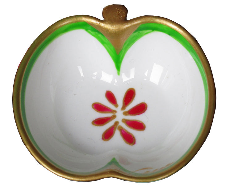 APPLE  Hand Painted Bone China Dish