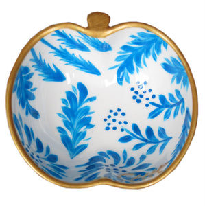 FLORA -  Apple Dish in hand painted bone china